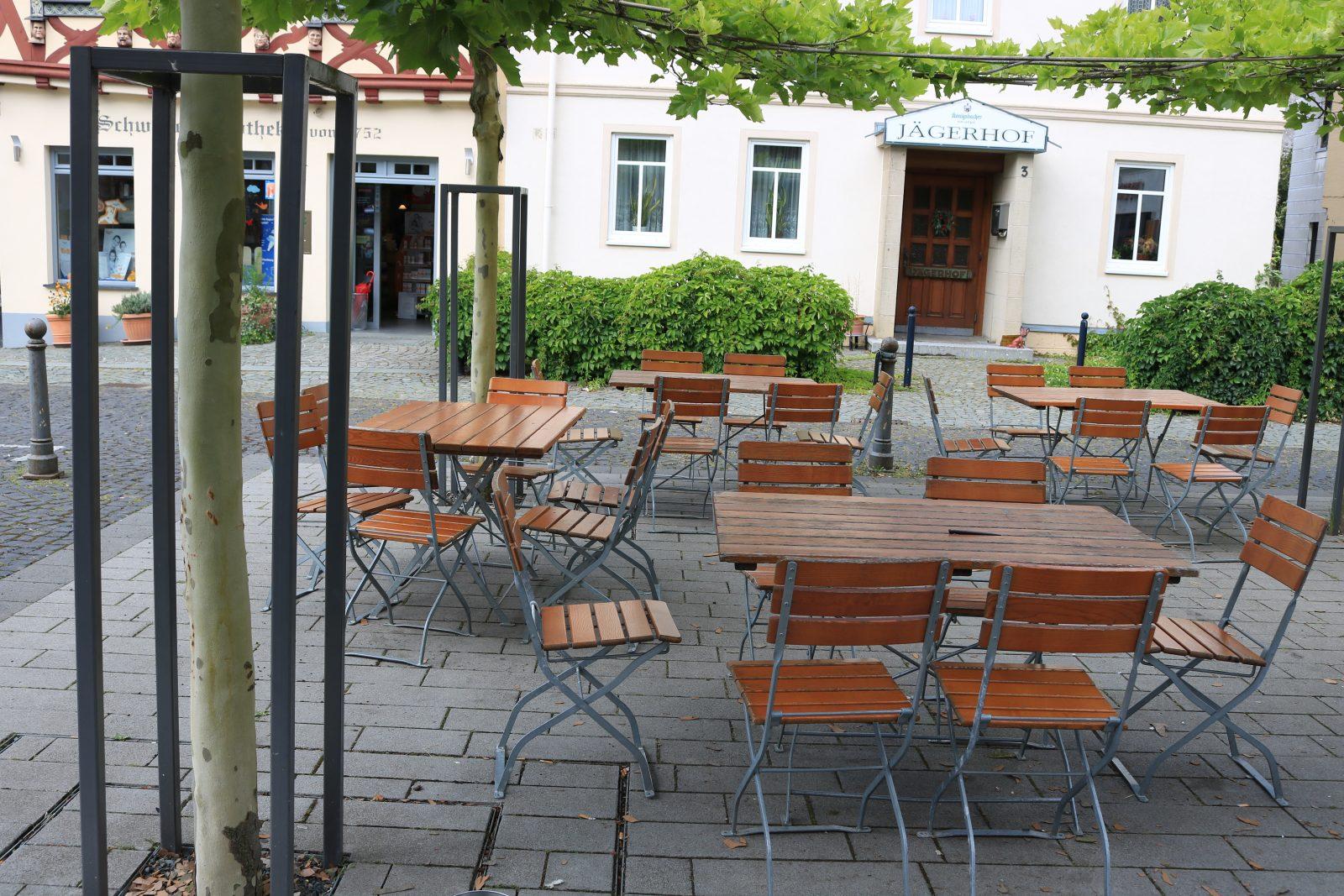 Biergarten im Mittelpunkt von Kirchberg